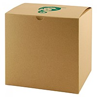 "Fold Up Gift Box   Natural Kraft   6"" X 6"""