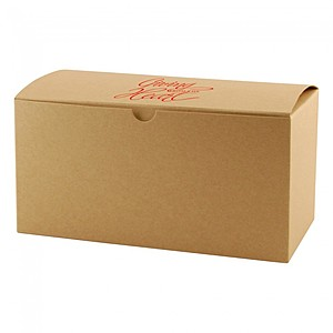 "Fold Up Gift Box   Natural Kraft   9"" X 4.5"""