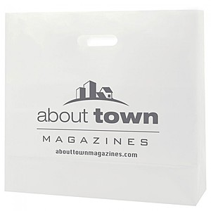 "Frosted Die Cut Totes   16"" X 15"""