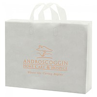 """Frosted Soft Loop Handle Bags   14"""" X 13"""""""