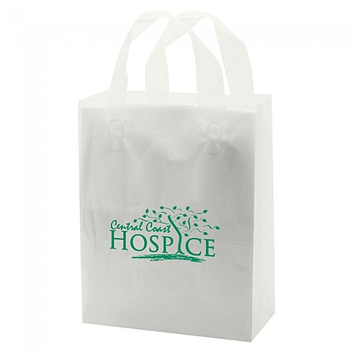 "Frosted Soft Loop Handle Bags 8"" X 10"""