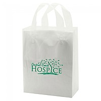 """Frosted Soft Loop Handle Bags 8"""" X 10"""""""