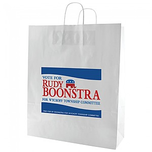 "Gloss Coated Shopping Bags   16"" X 19.25"""