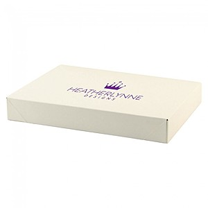 "Pop Up Apparel Box   Frost White Gloss   11.5"" X 8.5"""