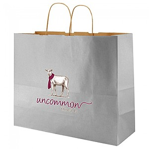 "Precious Metals Kraft Shopping Bags   16"" X 13"""