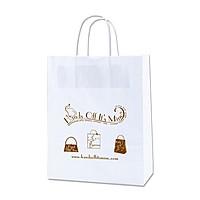 "White Kraft Shopping Bags   10"" X 12.5"""