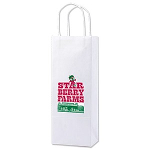 "White Kraft Shopping Bags   5.25"" X 13"""