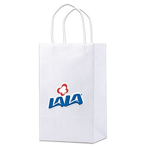 "White Kraft Shopping Bags   5.25"" X 8.5"""