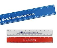 "12"" Beveled Plastic Ruler"