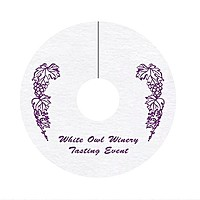 "14 Pt. 2.75"" Wine Tag  Coaster"