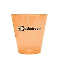 2 Oz. Orange Bright Light Shot Glass