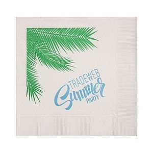 Beverage Napkins   White