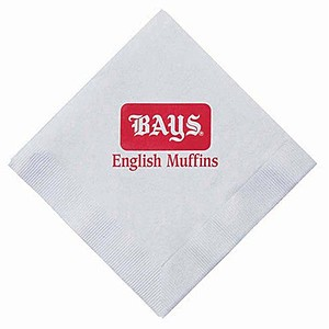 Dinner Napkins, 1/4 Fold   White