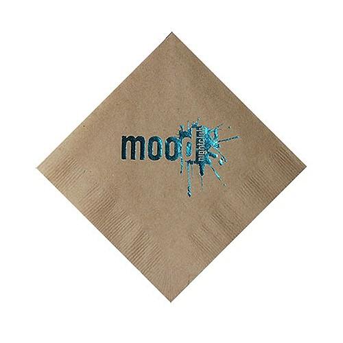 Foil Stamped 2 Ply Kraft Beverage Napkin