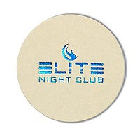 """Foil Stamped 45 Point, Natural, 3.5"""" Round Coaster"""