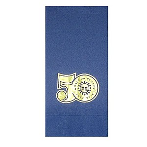 Foil Stamped Colored Dinner Napkins, 1/8 Fold