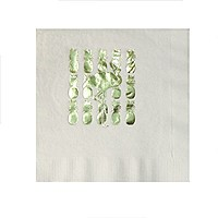 Foil Stamped White Luncheon Napkin