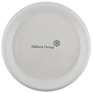 """Premium White Plastic Plate, 10"""" Round"""