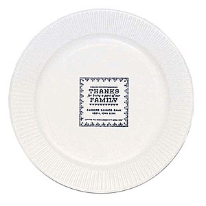 "White Paper Plate, 7"" Round"