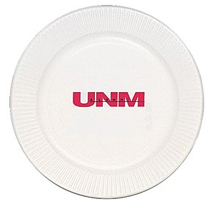 "White Paper Plate, 9"" Round"
