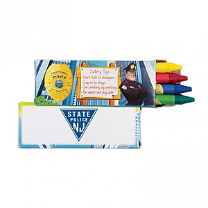4 Pack Police Crayons
