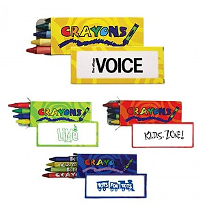 4 Pack Standard Crayons