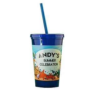 16 Oz. Double Wall Insulated Cup Full Color Digital