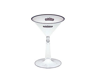 6 Oz. 2 Piece Martini Glass   Specialty Cups