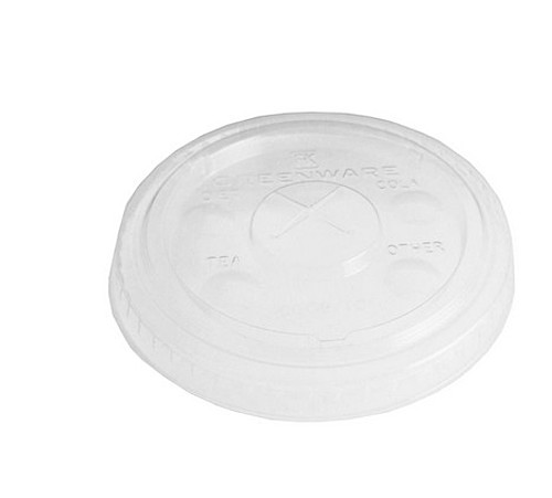Clear 10 Oz. Eco Friendly Straw Slotted Lid