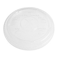 Clear 12 Oz. Eco Friendly Straw Slotted Lid