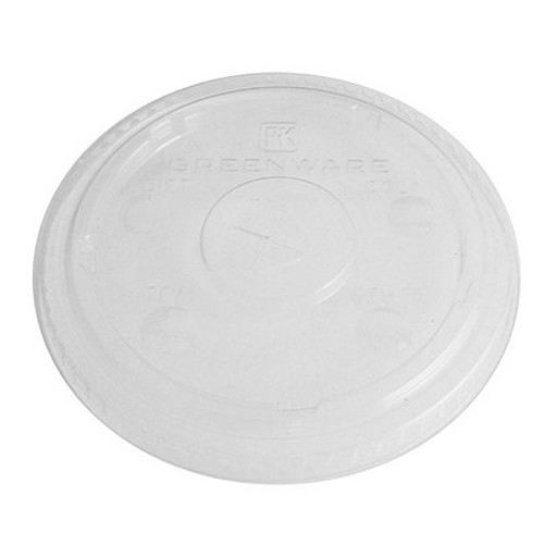 Clear 16 Oz. Eco Friendly Straw Slotted Lid