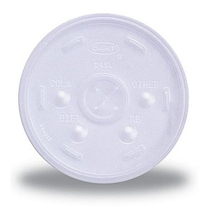 Clear 8 Oz. Foam Cup Straw Slotted Lid