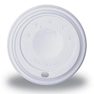 White 10 Oz. Foam Cup Traveler Lid