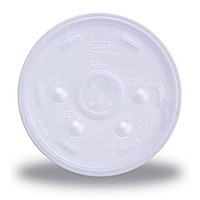 Translucent 16 Oz. To 20 Oz. Foam Cup Straw Slotted Lid