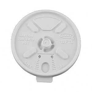 White 16 Oz. & 20 Oz. Foam Cup Tear Tab Lid