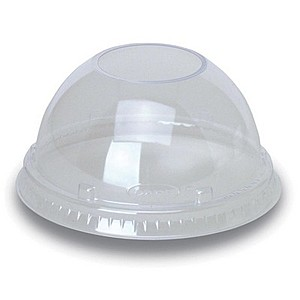 Clear 16 Oz. & 20 Oz. Foam Cup Dome Lid