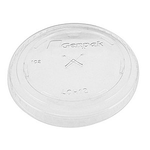 Clear 12 Oz. Soft Sided Straw Slotted Lids