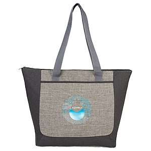 Reclaim Two Tone Recycled Zippered Tote