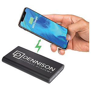 Light Up Logo Wireless Powerbank/2 In 1 Cable