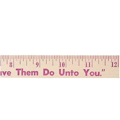 "Photo of 12"" Natural Finish Wood Ruler"