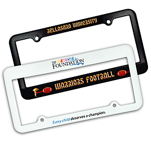 License Plate Frame 2 Holes Full Color Print