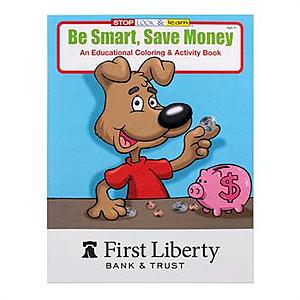 Be Smart Save Money Coloring Book