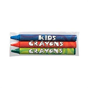3 Pack Blank Cello Wrapped Crayons