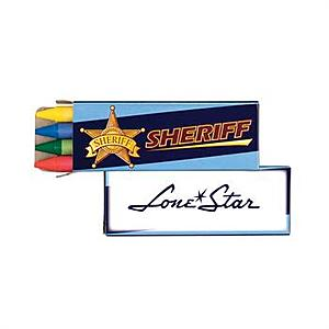 4 Pack Sheriff Crayons
