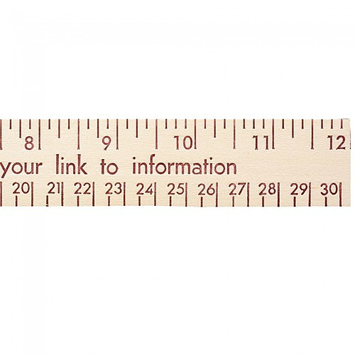 "Photo of 12"" Natural Finish Wood Ruler   English And Metric Scale"