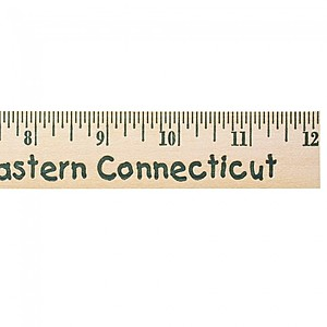 "12"" Natural Finish Wood Ruler   English Scale"
