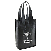 2 Bottle Wine Totes 7 X 3.5 X 11