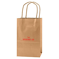Precious Metals Kraft Shopping Bags 5.25 X 3.25 X 8.5