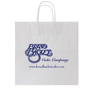 White Kraft Shopping Bag 13 X 7 X 13