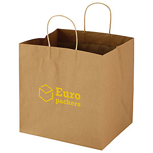 "Wide Gusset Takeout Bag 12"" W X 10"" D X 12"" H"